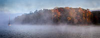 Foggy Fall on Lake Monroe