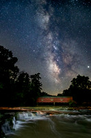 Milky Way over Cataract Covered Bridge