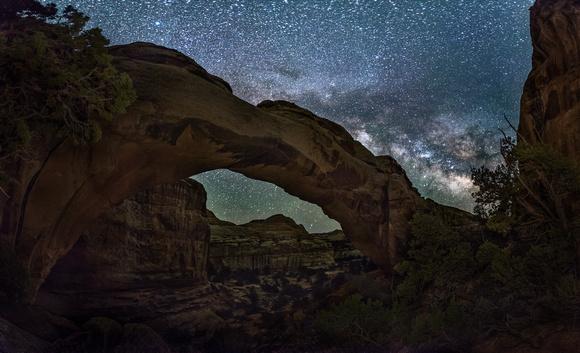 Milky Way over Hickman Bridge