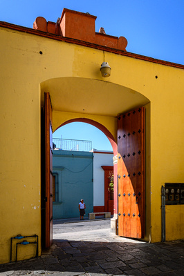 Oaxaca City Church Gate