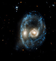 Hubble Captures Galaxies' Ghostly Gaze