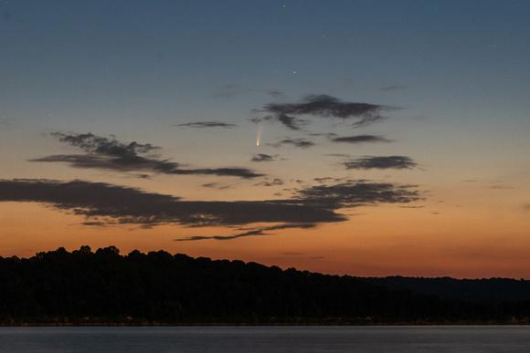 Comet NEOWISE over Lake Monroe