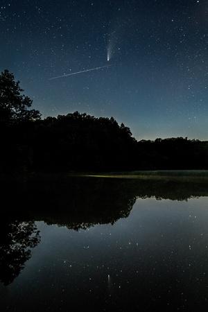 Meteor Photobombs NEOWISE