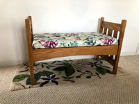 Red Oak Upholstered Bench